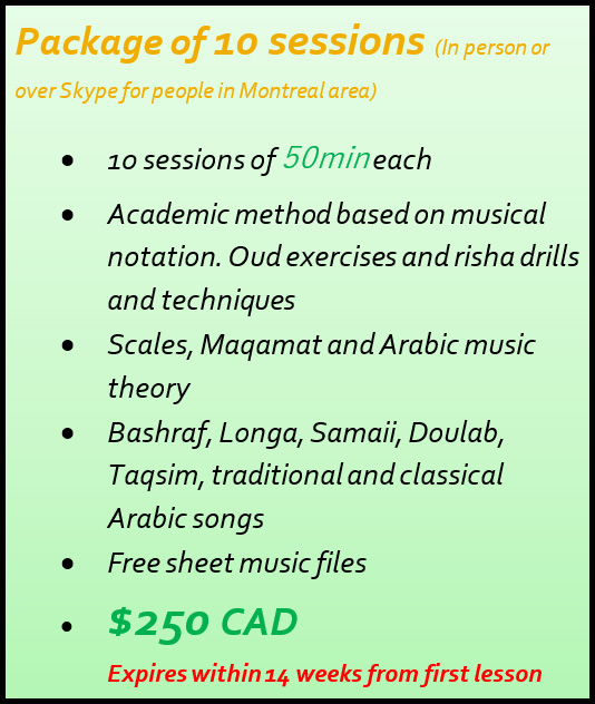 Package of 10 Oud lessons