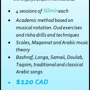 Package of 4 Oud lessons