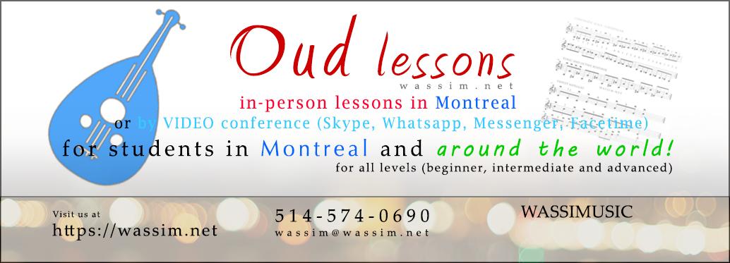Oud Lessons in Montreal - Leçon de Oud