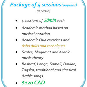 Package of 4 Oud lessons in Montreal