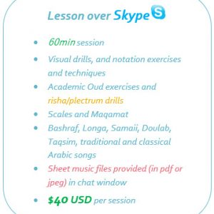Online Oud lesson over Skype